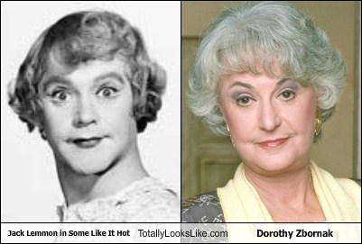 Jack Lemmon in Some Like It Hot Totally Looks Like Dorothy Zbornak