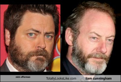 Nick Offerman  Totally Looks Like Liam Cunningham
