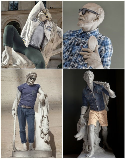 Classic Statues Dressed in Modern Fashion