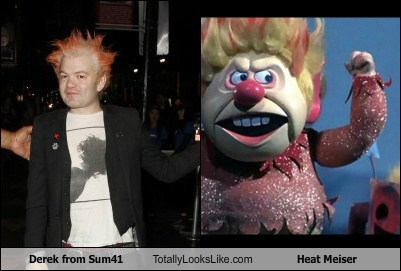 Derek from Sum41 Totally Looks Like Heat Meiser