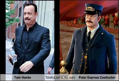 polar express,tom hanks,totally looks like,cgi,funny
