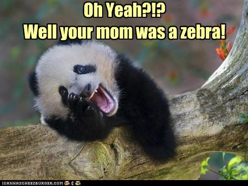 Panda Kids Have Their Own Insults