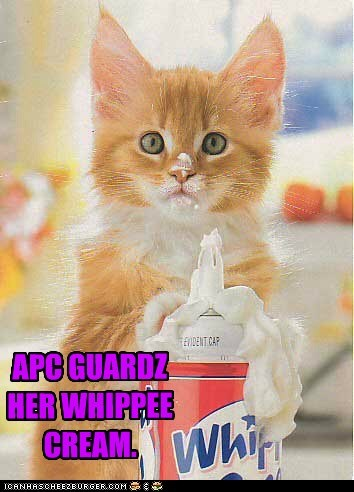 APC GUARDZ  HER WHIPPEE CREAM.