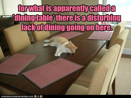 for what is apparently called a 'dining table'