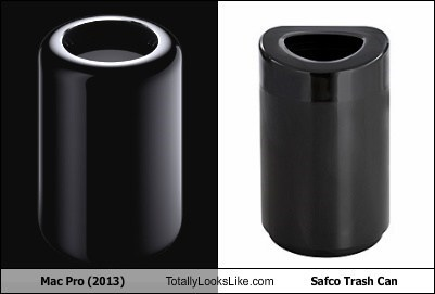 Mac Pro (2013) Totally Looks Like Safco Trash Can