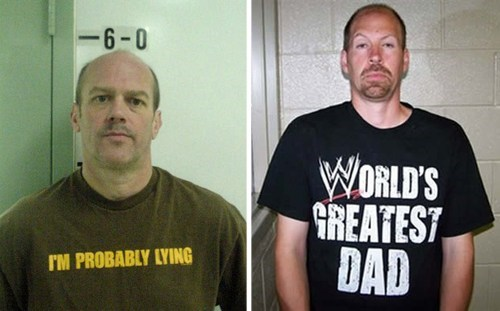 World's Worst Shirts to Wear in a Mugshot