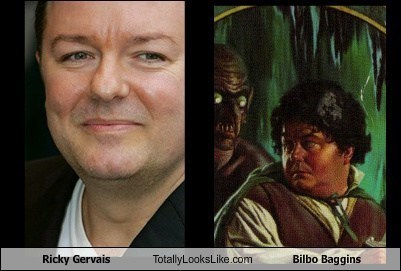 Bilbo Baggins,The Hobbit,totally looks like,funny,ricky gervais