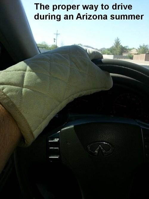 oven mitts,summer,cars,driving,arizona