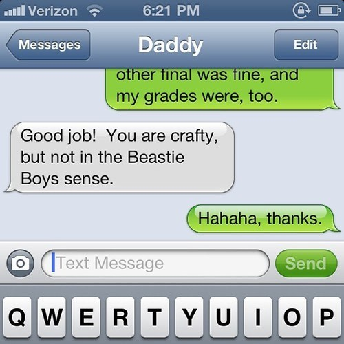 She's Always Down for Her Dad to Make a Beasties Reference