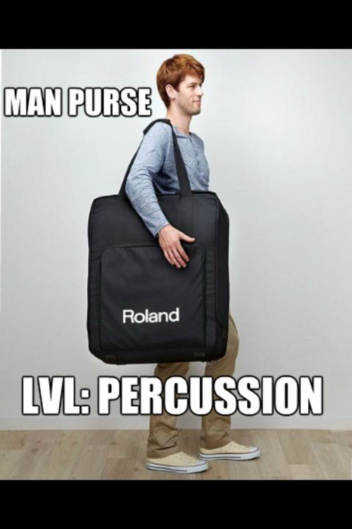 Man Purse Lvl: Percussion
