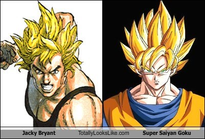 Jacky Bryant Totally Looks Like Super Saiyan Goku