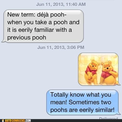 deja vu,pooping,funny,winnie the pooh,AutocoWrecks