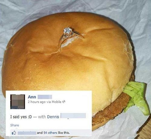 ring,engagement,weddings,funny,fast food,g rated,dating