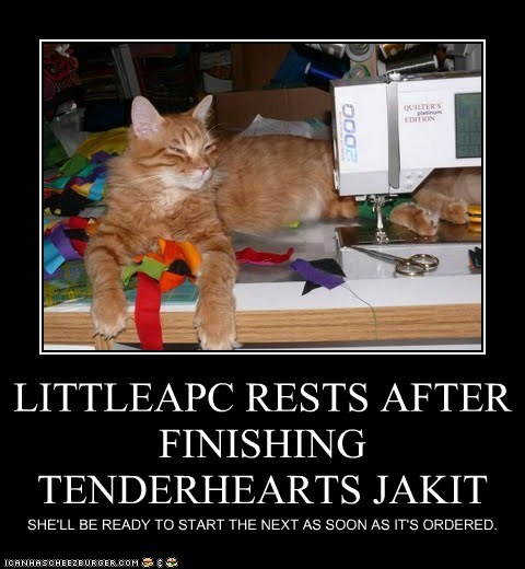 LITTLEAPC RESTS AFTER FINISHING TENDERHEARTS JAKIT