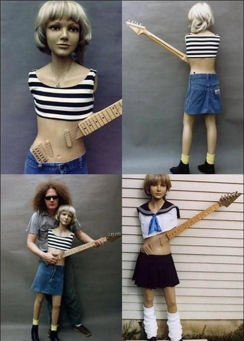 guitar,forever alone,Music,mannequin,funny