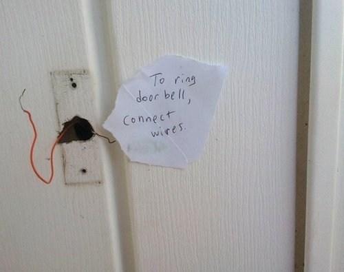 door bells,electrocution,loose wires,funny