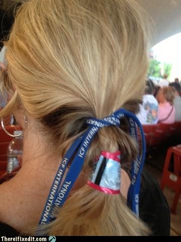 hair,labels,hair tie,lanyard,funny
