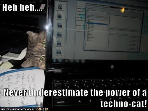 Heh heh....  Never underestimate the power of a techno-cat!