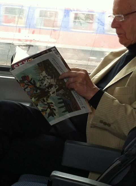 What Could He Possibly Be Reading...
