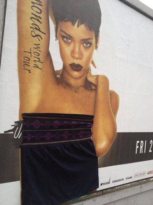 The People of Scotland Help Rihanna Cover Up