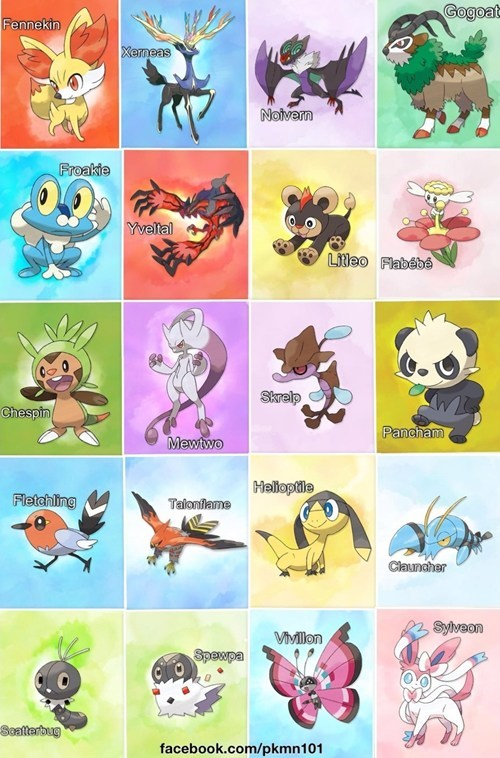All Gen 6 Pokemon so far