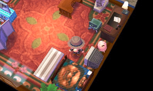 Someone Streetpassed Reggie at E3 and This is What His Animal Crossing Room Looked Like