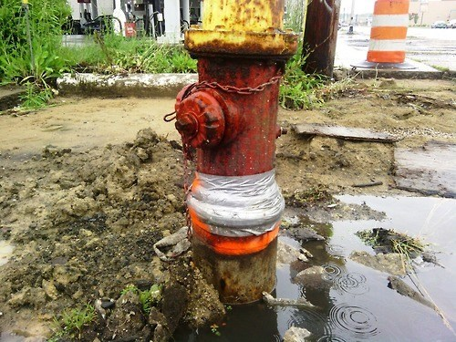 fire hydrants,leaks,duct tape,funny