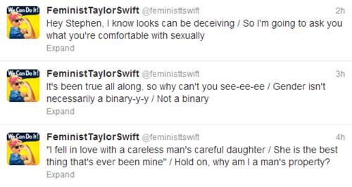 taylor swift,Music,twitter,feminism,funny