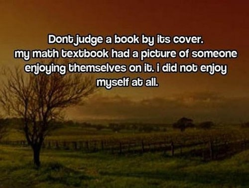 Why You Shouldn't Judge a Book by its Cover