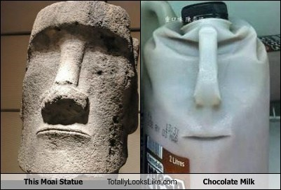 This Moai Statue Totally Looks Like Chocolate Milk