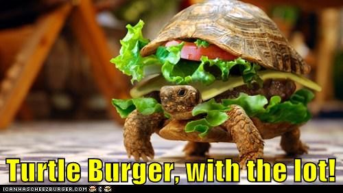 Turtle Burger, with the lot!