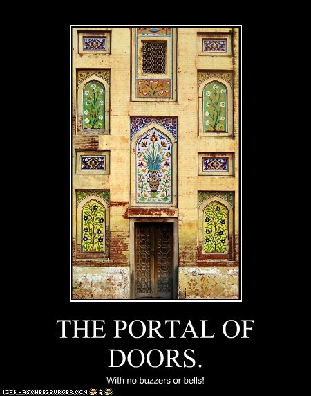 THE PORTAL OF DOORS.