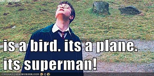 is a bird. its a plane. its superman!
