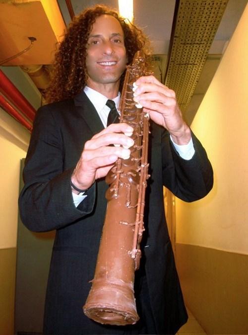 Music,Kenny G,chocolate saxophone,saxophone,chocolate,funny