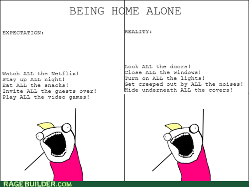 Being Home Alone is Never as Fun as You Thought It Would Be