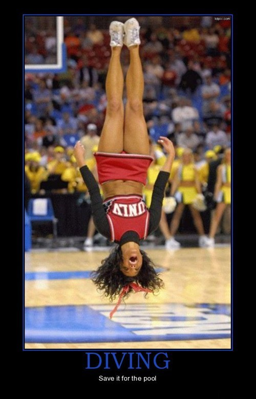diving,cheerleader,funny