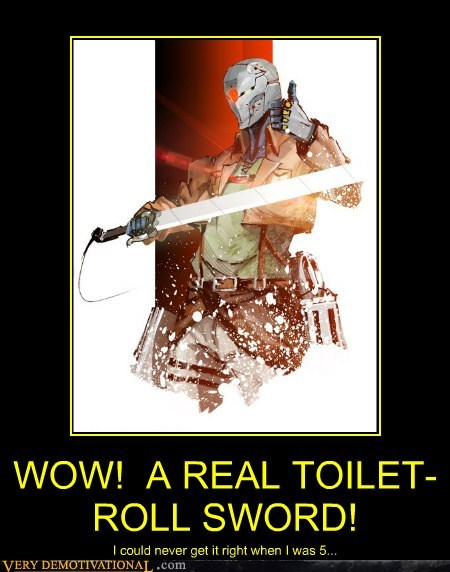 WOW!  A REAL TOILET-ROLL SWORD!