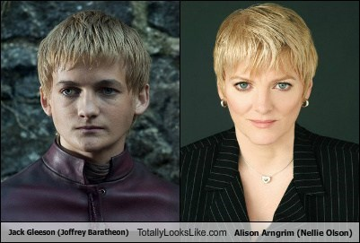 Jack Gleeson (Joffrey Baratheon) Totally Looks Like Alison Arngrim (Nellie Olson)