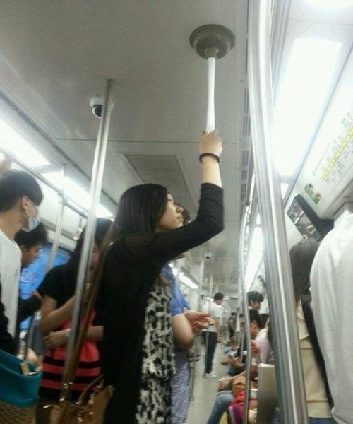 toilet plunger,plumber,public transportation,plunger,funny,bus,g rated,there I fixed it