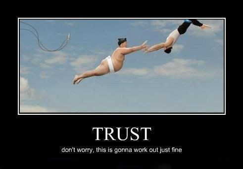 Brings New Meaning to Trust Falls
