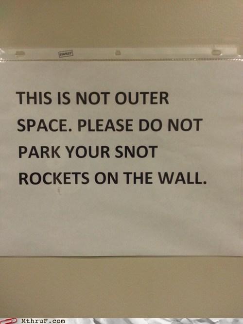 snot rockets,bathroom