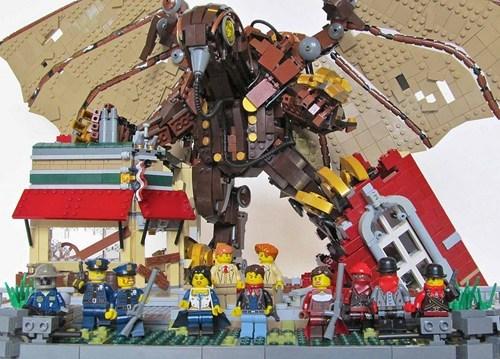 BioShock Infinite's Songbird Recreated With Legos