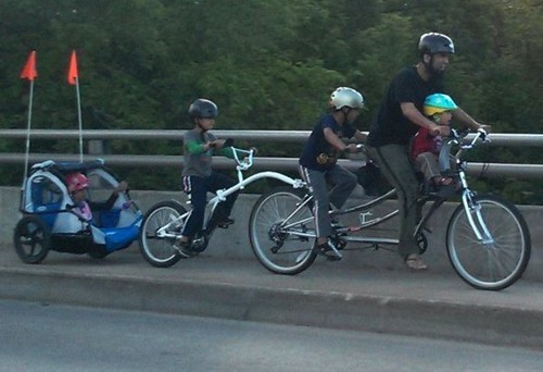 dads,bicycles,families,kids,funny