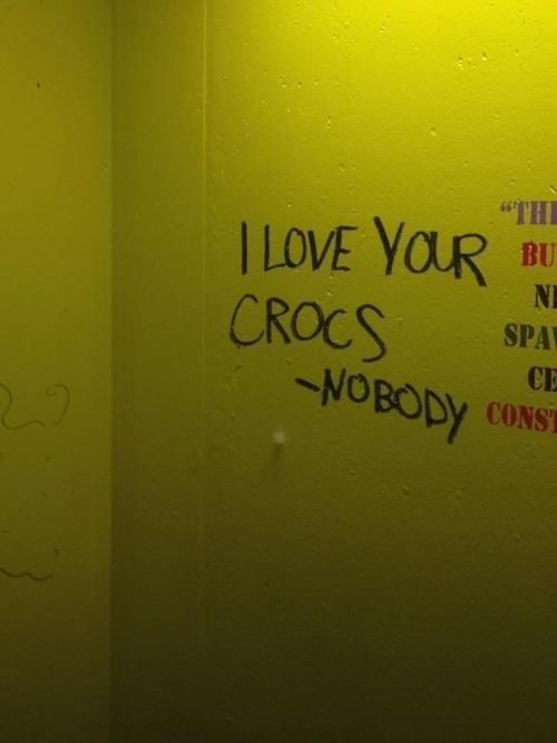 Croc-chity Bathroom Graffiti