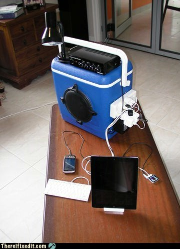 coolers,ipads,boom boxes,DIY,funny