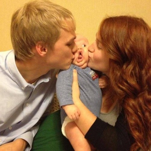 Babies,kissing,weird faces,funny,g rated,parenting