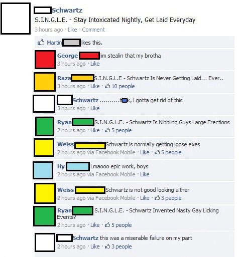 single,facebook trolling,schwartz,facebook,acronyms,failbook,g rated