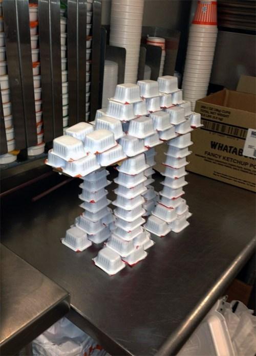 The Ketchup AT-AT Walker Storms the Wastes of Fast Food Restaurant Hoth