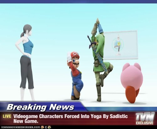 Breaking News - Videogame Characters Forced Into Yoga By Sadistic New Game.