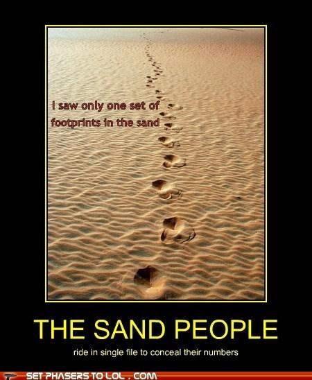 sand people,star wars,footprints